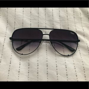 NWOT Quay High Key Sunglasses, Black Fade Lenses